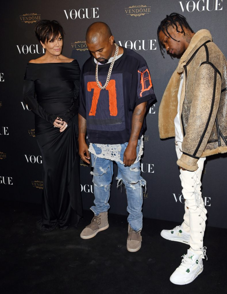 Kris Jenner, Kanye West and Travis Scott